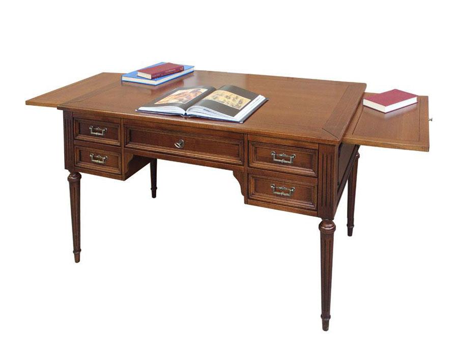scrivania, scrivania in legno, scrivania da ufficio con tiretti laterali