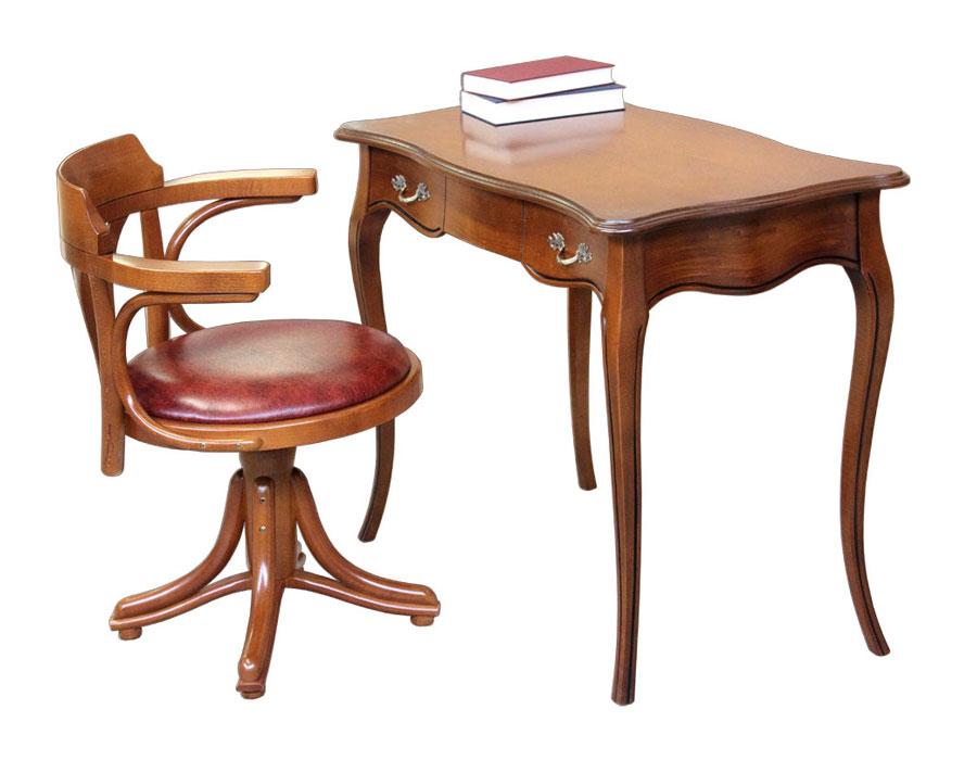 Scrittoio in legno e sedia da ufccio, scrittoio, scrittoio da ufficio