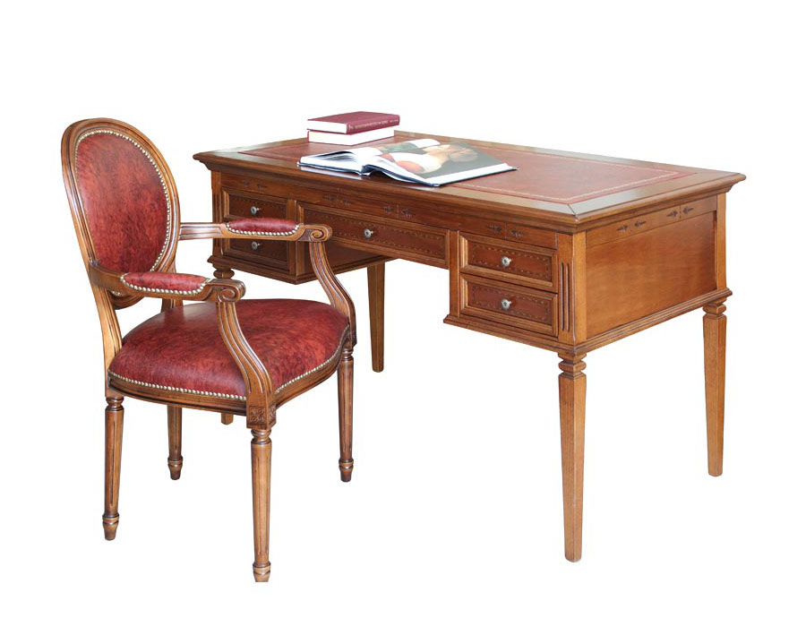 scrivania in legno, scrivania con 5 cassetti, scrivania ciliegio chiaro , scrivania da ufficio